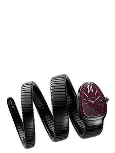 "RELOJ ""MONTRE FEMME BULGARI SERPENTI S""   www.alidifirenze.fr Italian Jewelry, Mad, Cufflinks, Bangles, Quartz, Bling, Watches, My Style, Diamond"