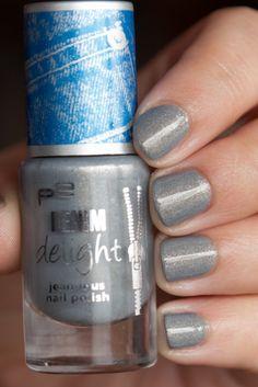 p2 'Grey Denim' Nail Polish  Denim Delight http://www.magi-mania.de/p2-grey-denim-nail-polish/