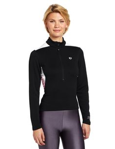 """Pearl Izumi Women's Superstar Thermal Print Jersey, X-Large, Black/Berry. Fall/Winter 2013. SELECT Transfer fabric sets the benchmark for moisture transfer. 12"""" zipper for venting."""