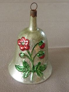 Antique German Christmas ornament - Bell. FIND today's Inge-Glas of Germany Bell ornaments at www.mygrowingtraditions.com
