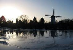 Die Babbersmühle im Winter Netherlands Windmills, Holland Netherlands, Mountains, Winter, Nature, Travel, Pictures, Netherlands, Winter Time