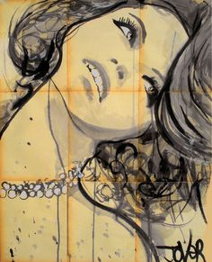 "Saatchi Online Artist: Loui Jover; Pen and Ink, 2012, Drawing ""pearls"""