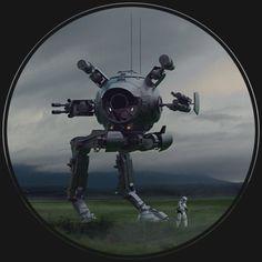 Star Wars AT-IT, Vincent Tanguay on ArtStation at https://www.artstation.com/artwork/Zo59G