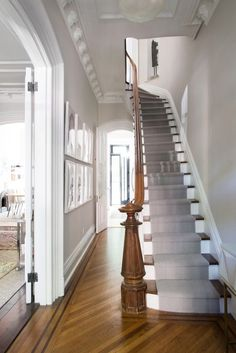 Townhouse staircase in #Brooklyn, #NY.