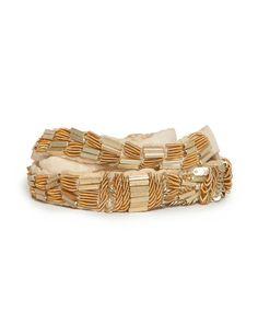 Hoss Intropia. Cinturón ajustable dorado, de Hoss Intropia (53,60 €).