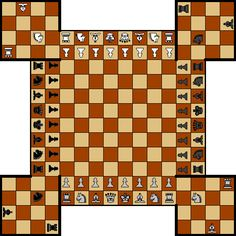 Fortress chess (or Russian Four-Handed chess) http://www.roleplaying.company