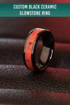 8MM Handmade Black Ceramic Step design Mosaic Wedding Band