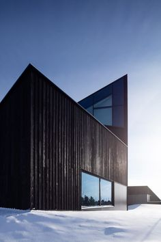 South Haven, Charred Wood, Built In Furniture, Steel Panels, Black Exterior, Amazing Architecture, Cemetery, Skyscraper, Tower