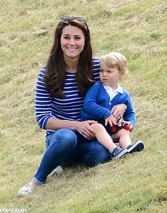 Prince George and Kate Middleton at Polo Match in June 2015   POPSUGAR Celebrity
