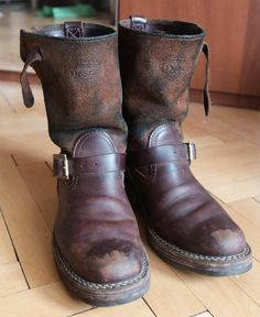 "IHWE-Build-5 Iron Heart/Wesco® - 9"" Brown Engineer Boots"