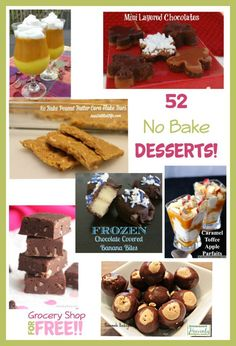 Need to satisfy your sweet tooth?  Not interested in firing up the oven?  Well, then you're in luck!  try these 52 No Bake Desserts!