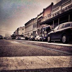 The Strand Historic District in Galveston, Texas.