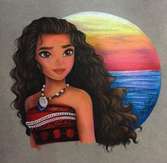 To say that I am excited for this movie is an understatement I had so much fun coloring this picture! I was originally going to do the background in copics but I HATED how it looked. Moana herself was so vibrant and the background just looked. Disney Artwork, Disney Fan Art, Disney Drawings, Art Drawings, Drawing Art, Moana Disney, Arte Disney, Moana Drawing, Mode Poster