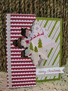 Giddy Stamper, Snowflake Thinlits, Holiday Home, Christmas Snowflake Cards, Christmas Snowflakes, Christmas Snowman, Handmade Christmas, Create Christmas Cards, Holiday Cards, Swing Card, Flip Cards, Card Tutorials