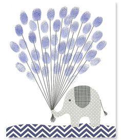 Fingerprint Baby Shower Alternative Guest Book Elephant with Balloons Thumbprint Guest Book Gray Navy 8 x 10 or 11 x 14 Navy Nursery, Nautical Nursery, Nursery Art, Thumbprint Guest Books, Shower Bebe, Baby Shower Themes, Shower Ideas, Akira, Guest Book Alternatives