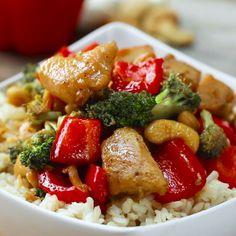 Healthier Cashew Chicken Stir-Fry