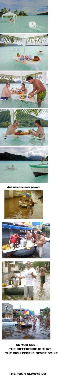 The difference between rich and poor.....No matter how much you may want to.....there are somethings you just can't argue against!