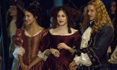 Versailles - Publicity still of Evan Williams, Maddison Jaizani & Amira Casar. The image measures 3307 * 2205 pixels and was added on 19 August Versailles Season 2, Versailles Bbc, Versailles Tv Series, Alexander Vlahos, Evan Williams, 17th Century Fashion, Ballet, Period Costumes, Now And Forever