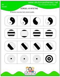 okul öncesi dikkat geliştirme çalışmaları Dyslexia Activities, Preschool Learning Activities, Preschool Worksheets, Infant Activities, Teaching Kids, Printable Mazes, Printables, Free Printable, 18 Month Activities