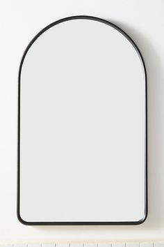 Calloway Mirror by Anthropologie in Black, Wall Decor Navy Bathroom, Bathroom Colors, White Bathrooms, Luxury Bathrooms, Master Bathrooms, Downstairs Bathroom, Bathroom Inspo, Dream Bathrooms, Mirror Decor Living Room
