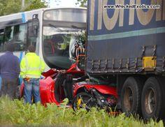 Ferrari 458 Italia wrecked, Lisburn, Ireland