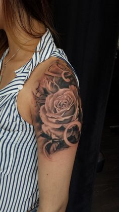 roses tattoo sleeve | Western/Realism Black and Grey Archives - Chronic Ink