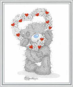 Valentines tatty teddy picture