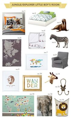 Jungle/Explorer kid's room inspiration | Hellobee