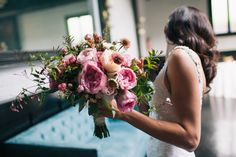 Nicole and Brian's Wedding   Peony, Garden Rose and Scabies Bouquet   Planning: @colorpopevents, Photography: Shannen Natasha Weddings, Floral: @roseredlavender