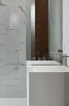 Bathroom, Penthouse in Toronto by Johnson Chou _
