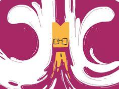 cartoony me [gif] gif animation cel character fx brand opening id Anim Gif, Gif Animé, Animated Gif, Design Graphique, Art Graphique, Motion Design, Gifs, Animation Image Par Image, Kinetic Type