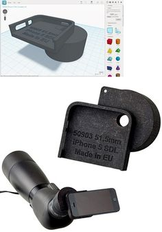 A 3D printed iPhone adapter for a telescope #3dprinting #3dmodeling