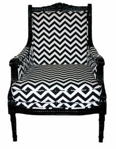 black & white zig zag by susanne