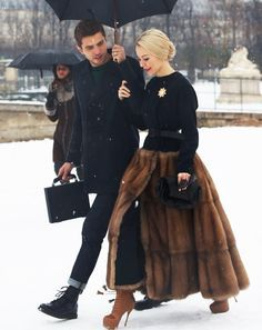 Fur skirt!