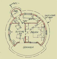 Rondavel floor plan