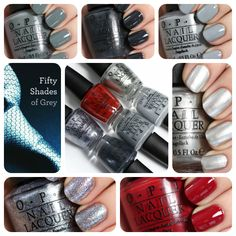 OPI 50 Shades of Grey swatches via @alllacqueredup