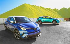 Download wallpapers Toyota C-HR, 4k, factory, 2018 cars, crossovers, new C-HR, Toyota