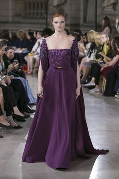 A gown for Cordé from the Georges Hobeika Fall Winter collection. Georges Hobeika, Couture Mode, Style Couture, Couture Fashion, Purple Evening Gowns, Purple Gowns, Reign Dresses, Collection Couture, Royal Clothing