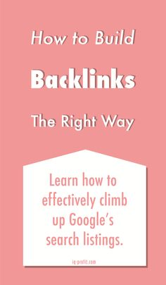 Need to know backlinking tips!
