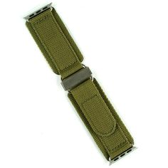 Apple Watch Band - 24mm Drab Olive Nylon Velcro Strap | BandRBands