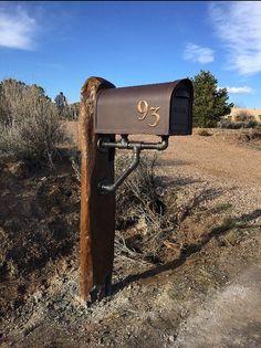 barnwood mailbox post