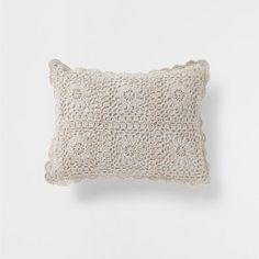 Cojín lino crochet | Home | Pinterest | Crochet, Crochet cushions