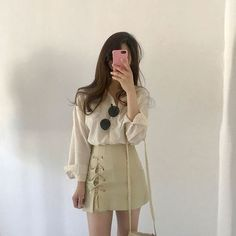 Check out this Stylish casual korean fashion Korean Fashion Trends, Korea Fashion, Asian Fashion, Look Fashion, Girl Fashion, Fashion Outfits, Fashion Design, Fashion Tips, Style Ulzzang