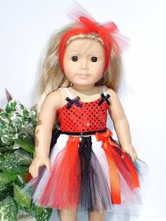 Red and Black  18 Doll Clothes American Girl by sassydollcreations, $19.99