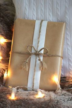 Brown paper packaging-received my first this Christmas tied with red and grey linen string!