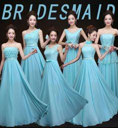2015 new female group bridesmaid dress Blue Bridesmaids, Cheap Bridesmaid Dresses, Blue Wedding Guest Dresses, Princess Ball Gowns, Groom Dress, Jim Gaffigan, Cricut Wedding, Amazing Ideas, 2017 Summer