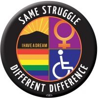 Sticker - Same Struggle Different Difference | Syracuse Cultural Workers