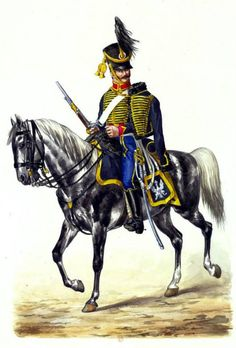 Hussar of the central company of 10th Hussars Regiment (1812). Fig. Grammont.