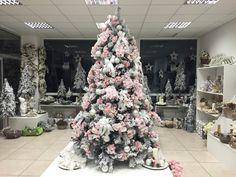 Pink christmas tree #holidays #christmas idea