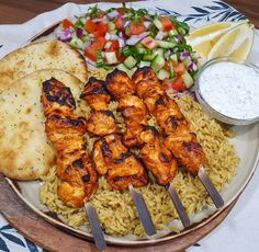 """TopChefNavarros_SW on Instagram: """"Tandoori Chicken Kebabs with Onion Bhaji Rice! ⠀⠀⠀⠀⠀⠀⠀⠀⠀ A nice easy fave tonight! Just love the Uncle Benns Onion Bhaji rice too makes a…"""" Onion Bhaji, Kebabs, Tandoori Chicken, Paella, Chicken Wings, Rice, Meat, Ethnic Recipes, How To Make"""